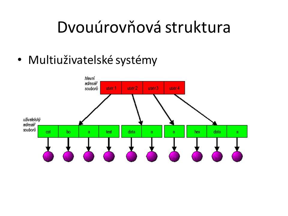 Dvouúrovňová struktura Multiuživatelské systémy