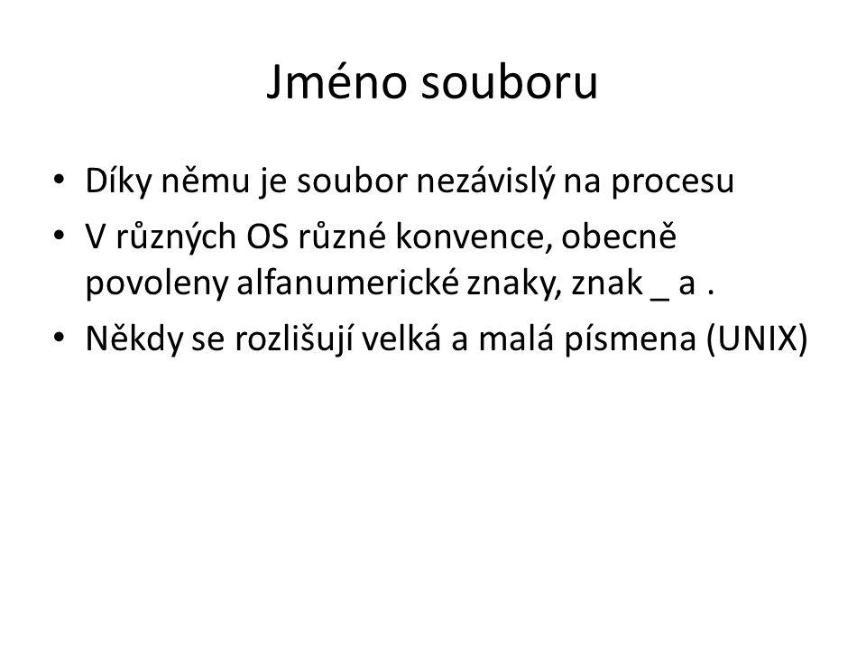 Implementace systému souborů Souvislá implementace souboru