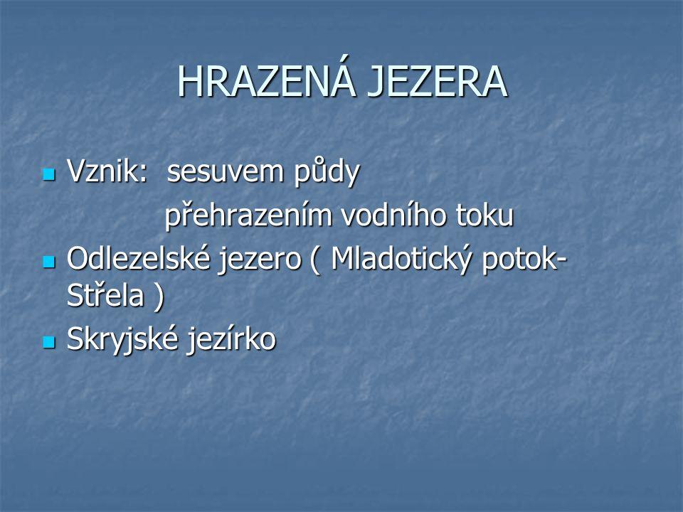 PODZEMNÍ VODY v ČR – velké zásoby podzemních vod, nerovnoměrně rozmístěné v ČR – velké zásoby podzemních vod, nerovnoměrně rozmístěné prosté prosté minerální minerální pitná voda, minerální prameny ( lázně) pitná voda, minerální prameny ( lázně) největší zásoby-Česká tabule největší zásoby-Česká tabule
