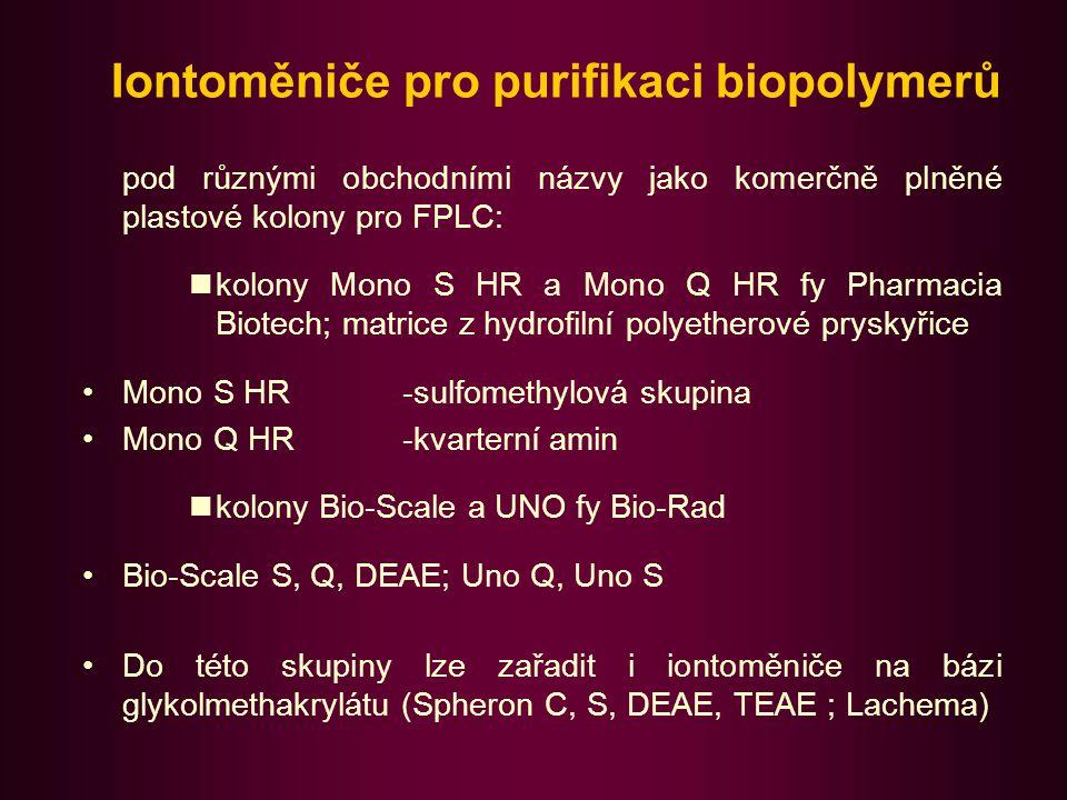 Chromatofokusace (CF) Varianta ionexové chromatografie (1978 Sluyterman) umožňující separaci proteinů na základě rozdílu v hodnotě isoelektrického bodu (pI).