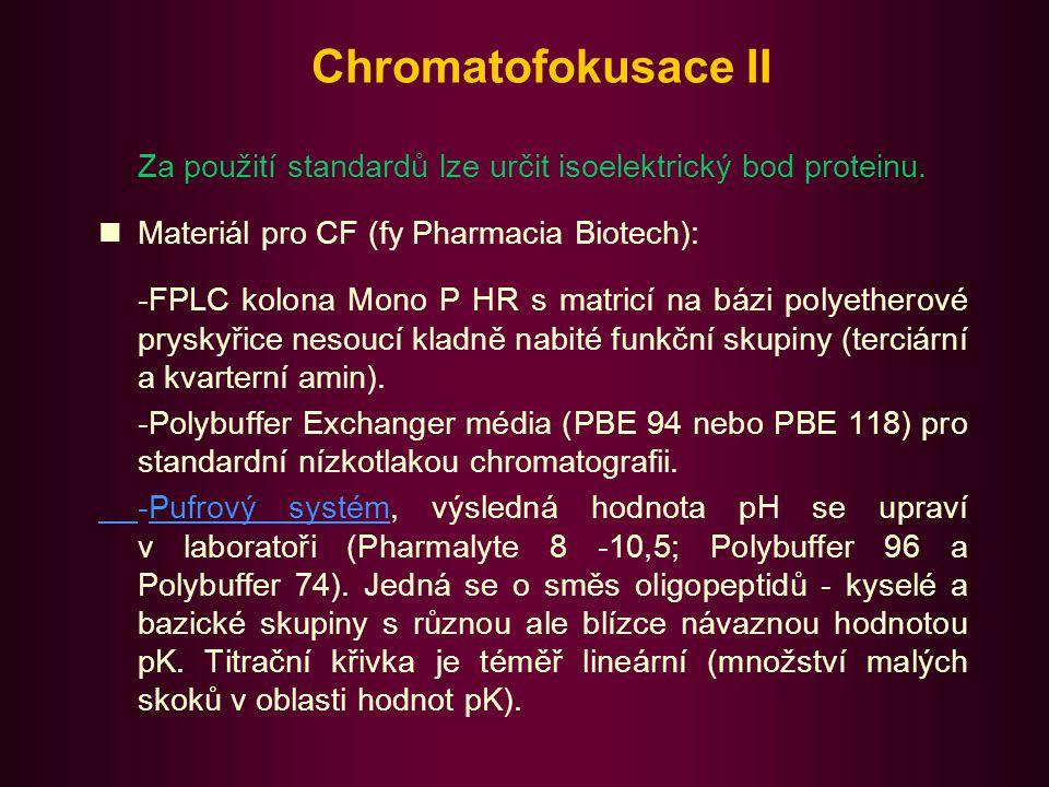 Chromatofokusace III