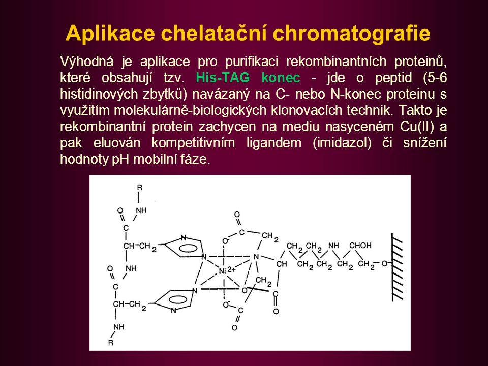 Gelová permeační chromatografie (GPC) Na separaci zde mají rozhodující vliv rozměry molekul.