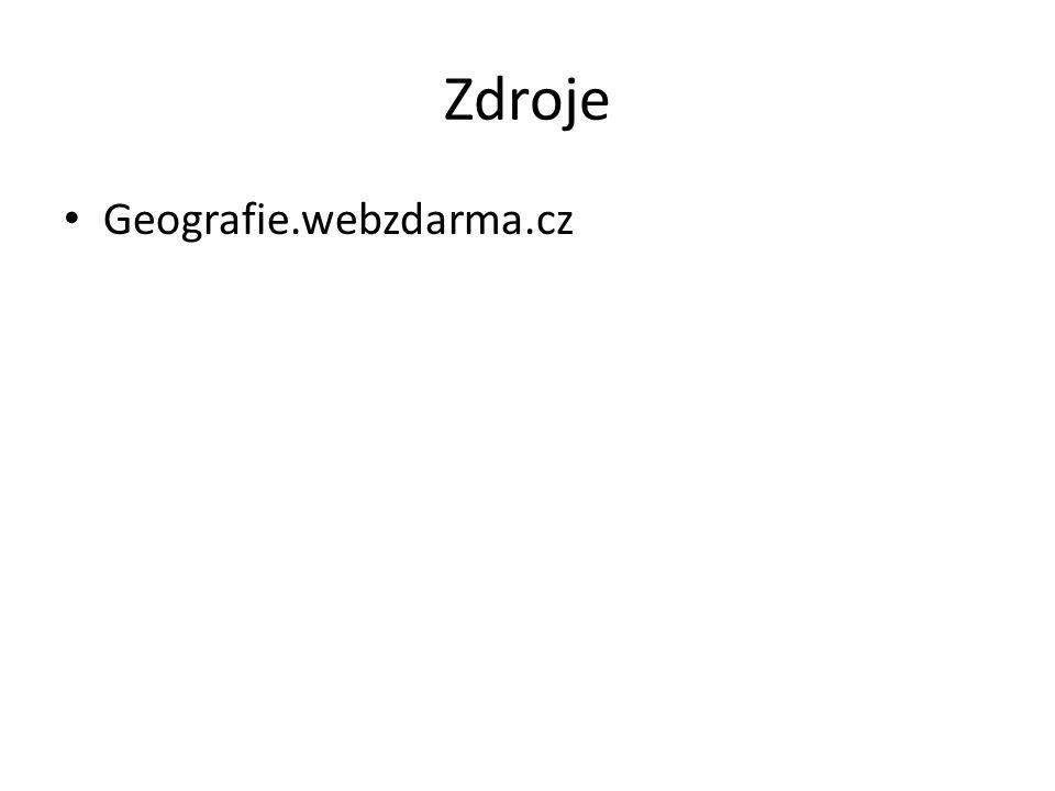 Zdroje Geografie.webzdarma.cz