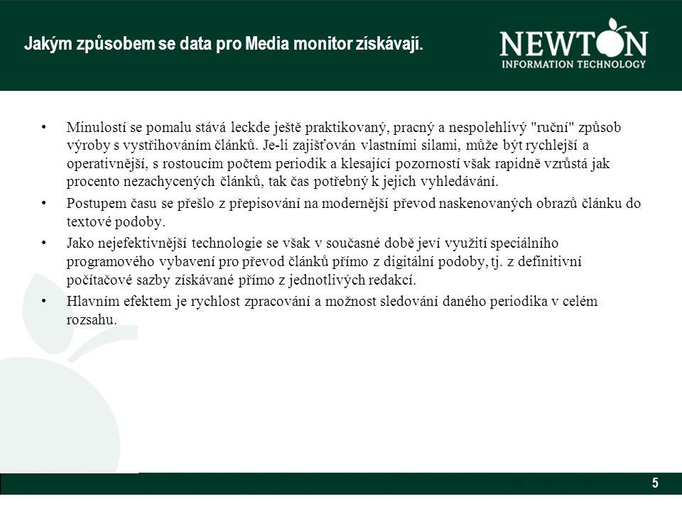 5 Jakým způsobem se data pro Media monitor získávají.