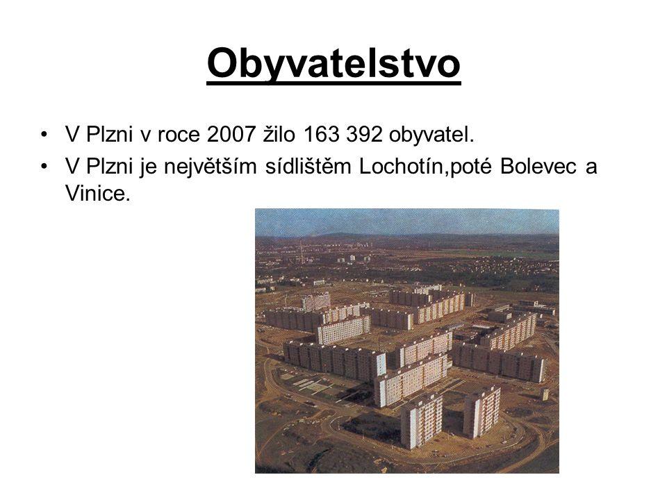 Obyvatelstvo V Plzni v roce 2007 žilo 163 392 obyvatel.