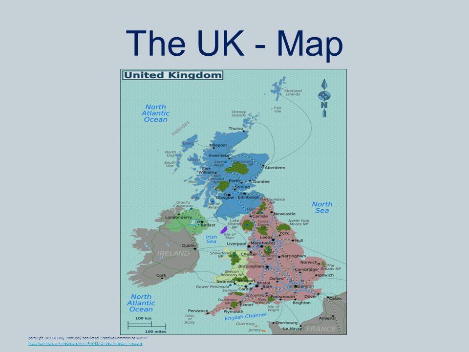 The UK - Map Zdroj: [cit. 2013-03-06].