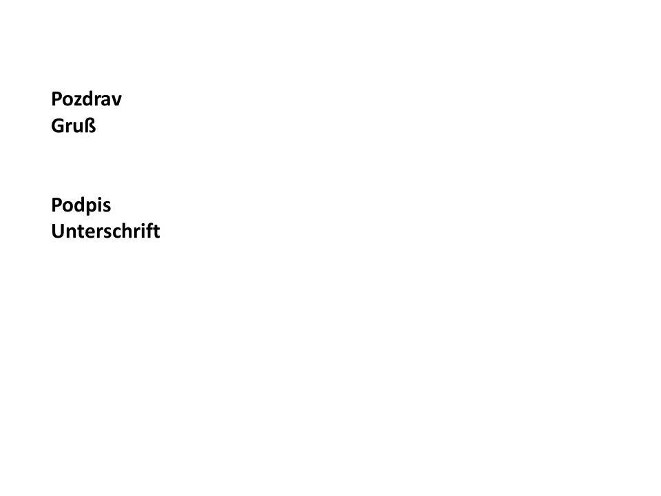 Slovní zásoba – Wortschatz (Jednoduché fráze) Ihre Zahlung steht noch offen.