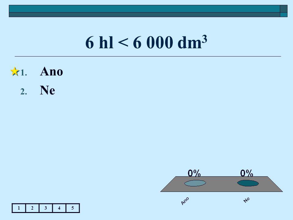 6 hl < 6 000 dm 3 1. Ano 2. Ne 12345