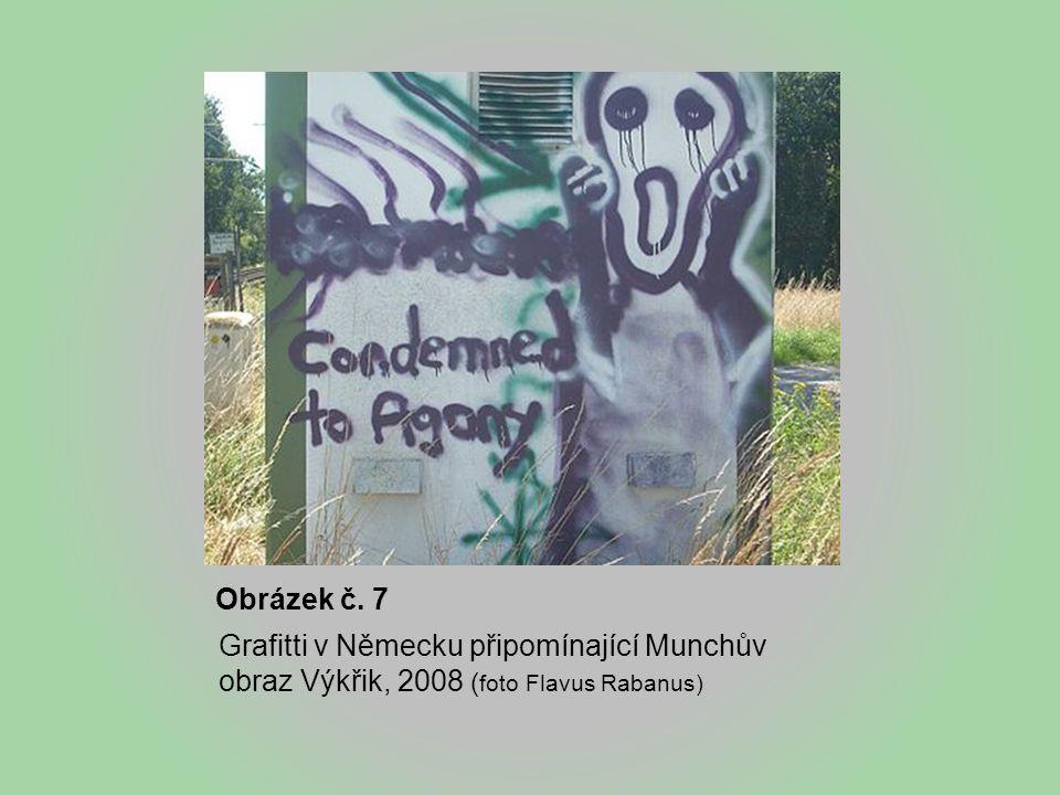 Obrázek č. 7 Grafitti v Německu připomínající Munchův obraz Výkřik, 2008 ( foto Flavus Rabanus)