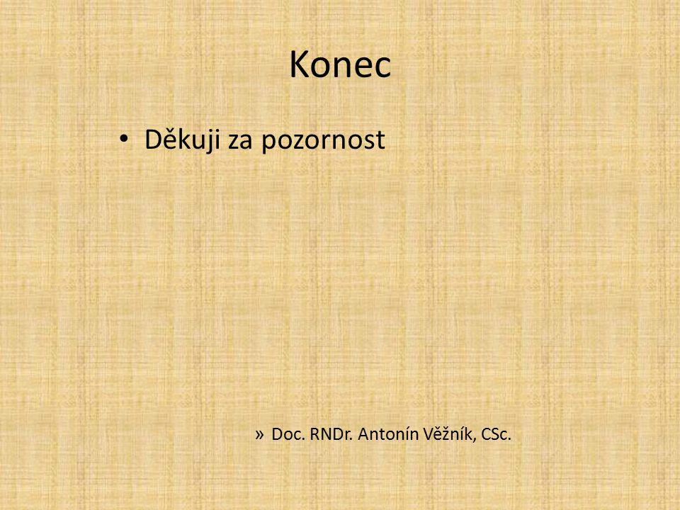 Konec Děkuji za pozornost » Doc. RNDr. Antonín Věžník, CSc.