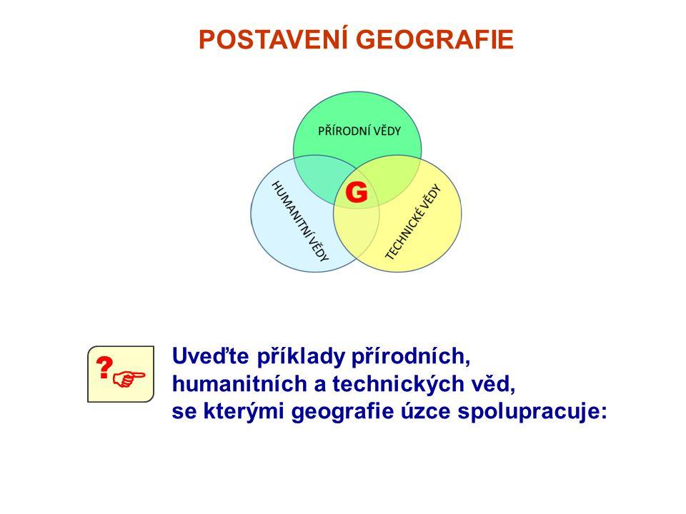 Uveďte příklady přírodních, humanitních a technických věd, se kterými geografie úzce spolupracuje:  ?