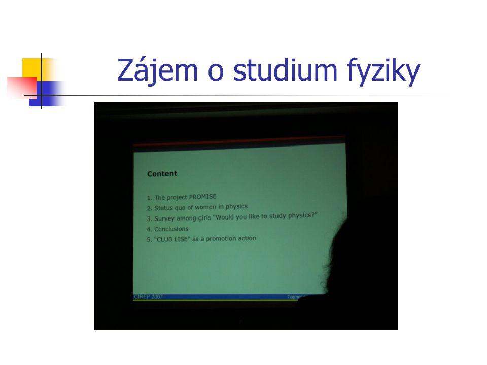 Zájem o studium fyziky