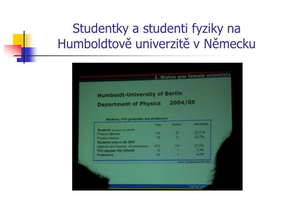 Studentky a studenti fyziky na Humboldtově univerzitě v Německu