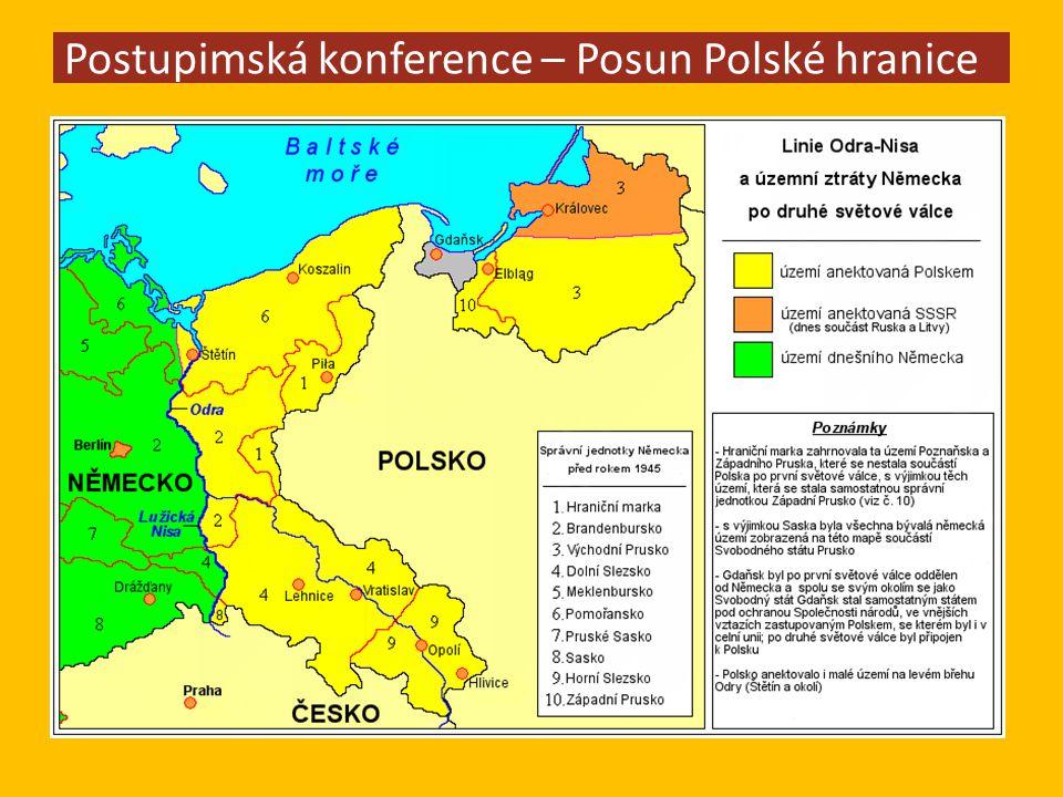 Postupimská konference – Posun Polské hranice