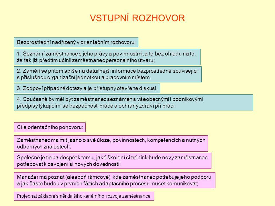 VSTUPNÍ ROZHOVOR 4.