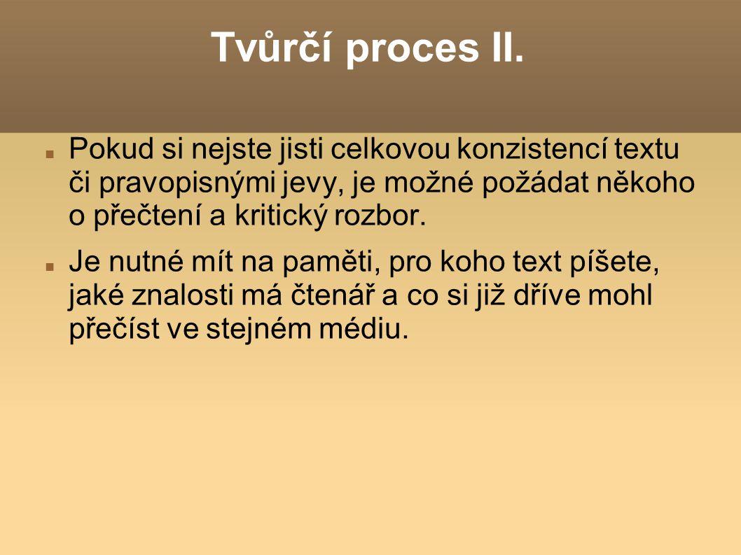 Tvůrčí proces II.