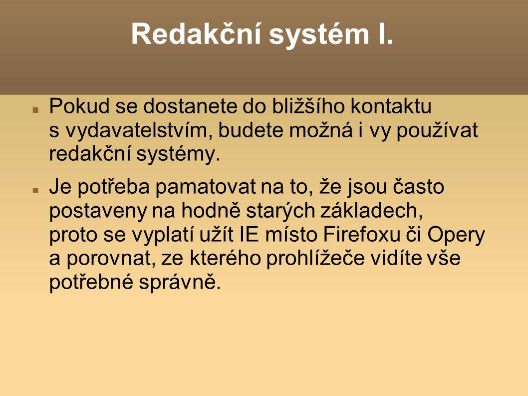 Redakční systém I.