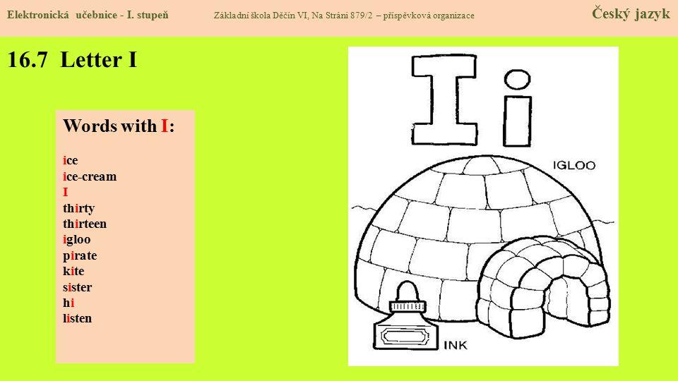 16.7 Letter I Elektronická učebnice - I.