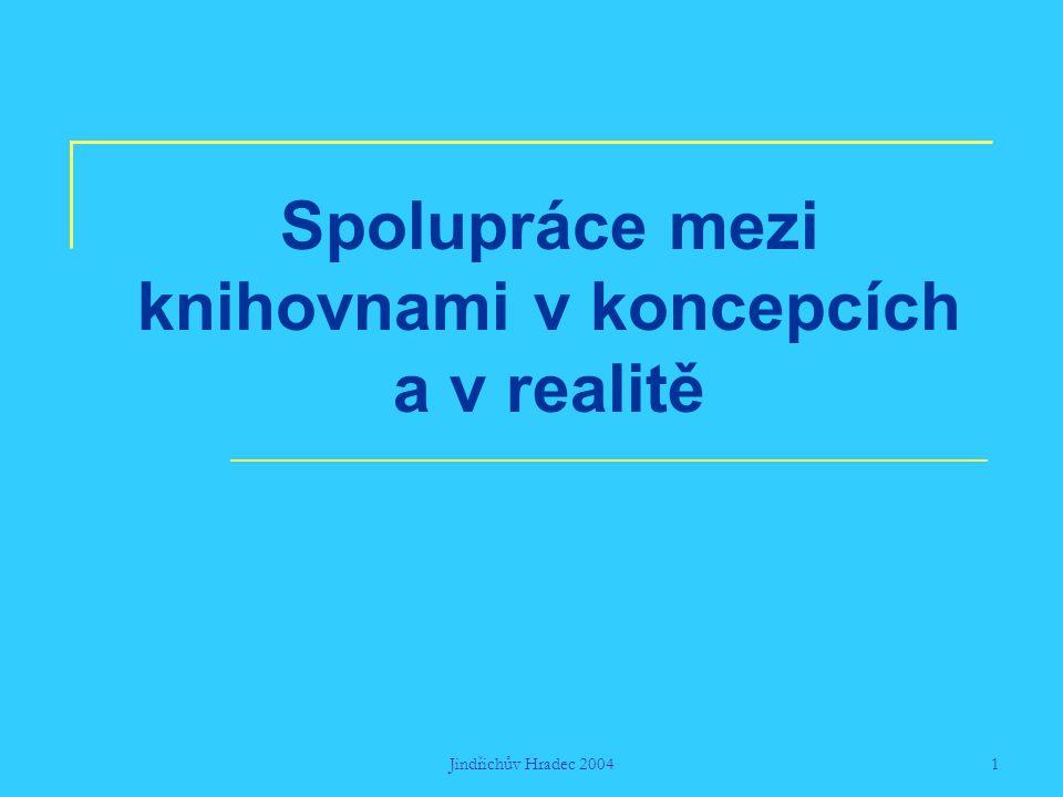 Jindřichův Hradec 20041 Spolupráce mezi knihovnami v koncepcích a v realitě