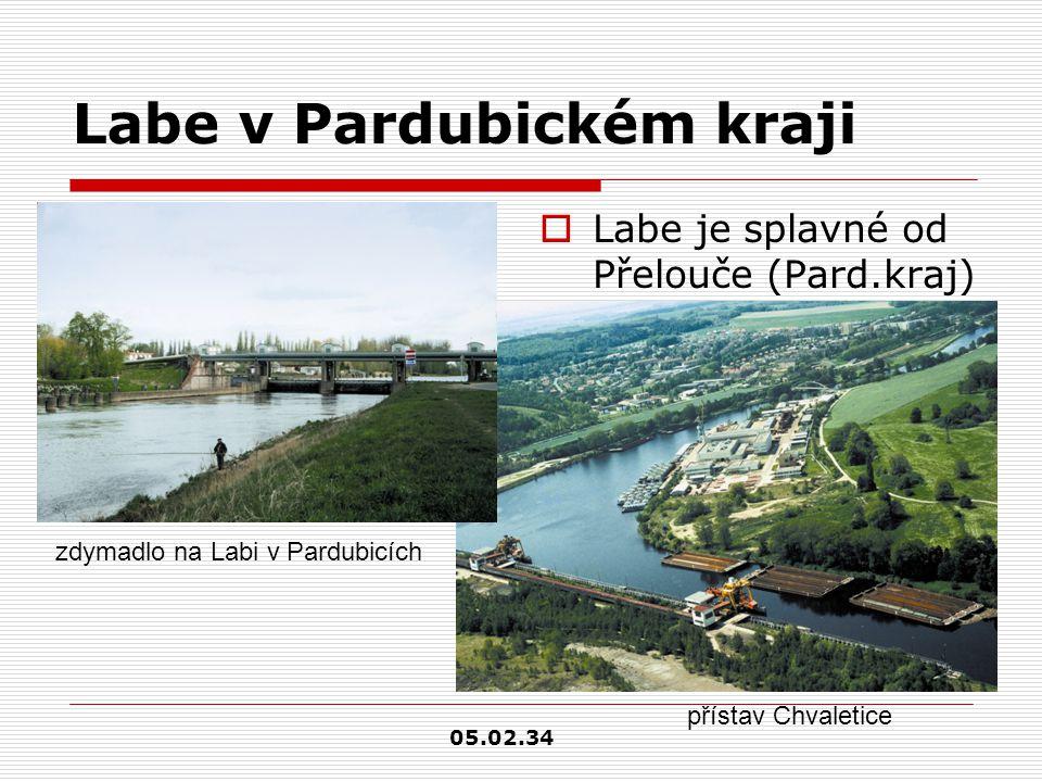 Labe v Pardubickém kraji  Labe je splavné od Přelouče (Pard.kraj) zdymadlo na Labi v Pardubicích přístav Chvaletice 05.02.34