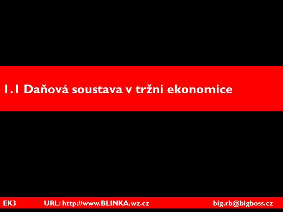 EK3 URL: http://www.BLINKA.wz.cz big.rb@bigboss.cz 1.1 Daňová soustava v tržní ekonomice