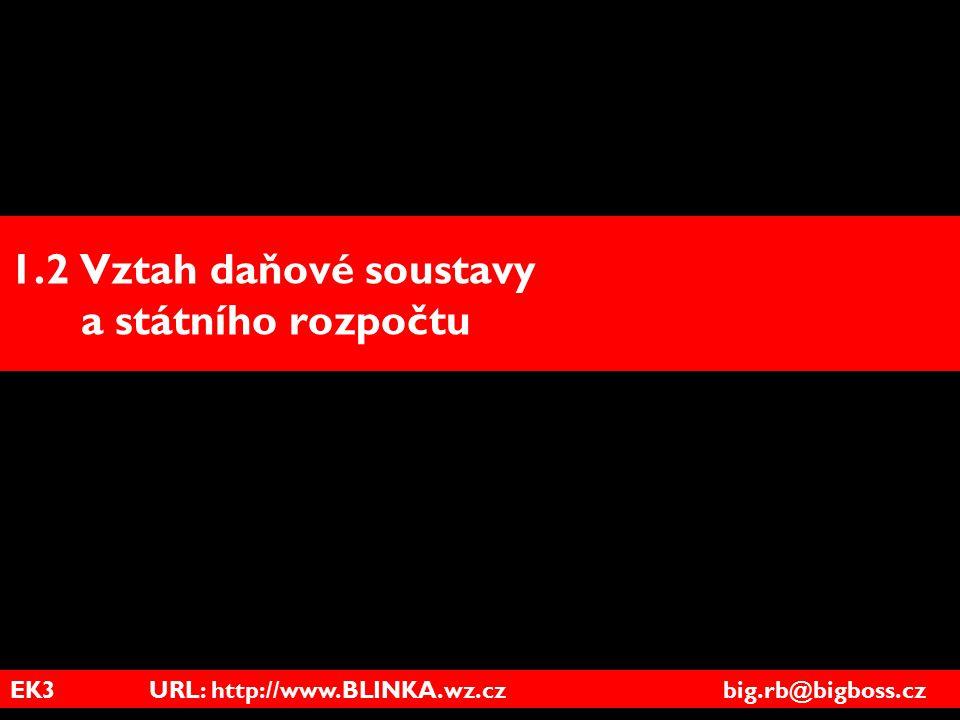 EK3 URL: http://www.BLINKA.wz.cz big.rb@bigboss.cz 1.2 Vztah daňové soustavy a státního rozpočtu