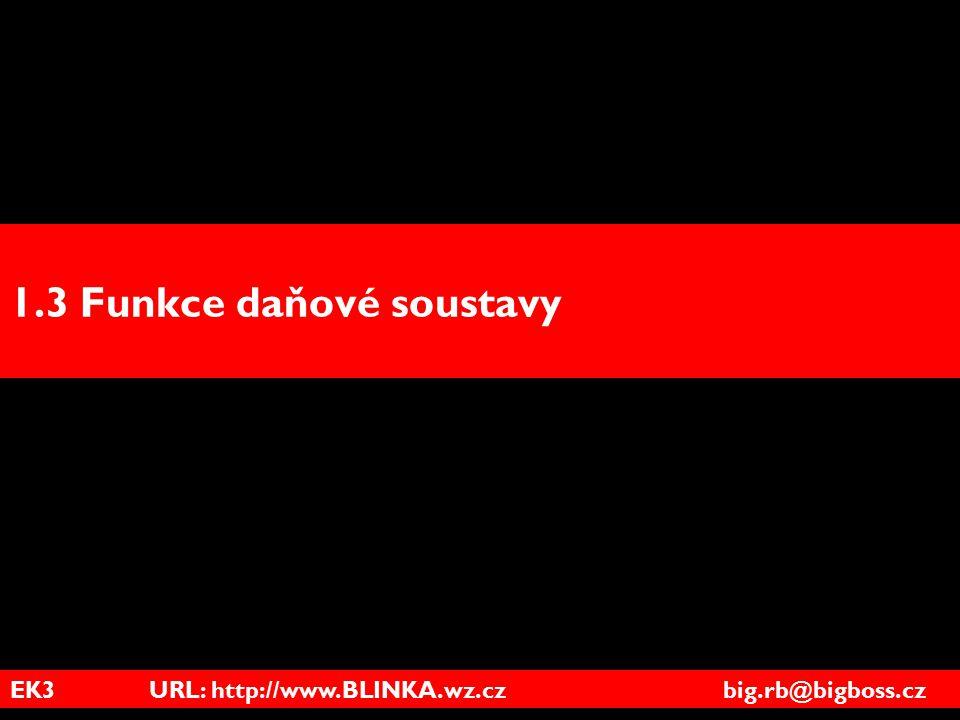 EK3 URL: http://www.BLINKA.wz.cz big.rb@bigboss.cz 1.3 Funkce daňové soustavy