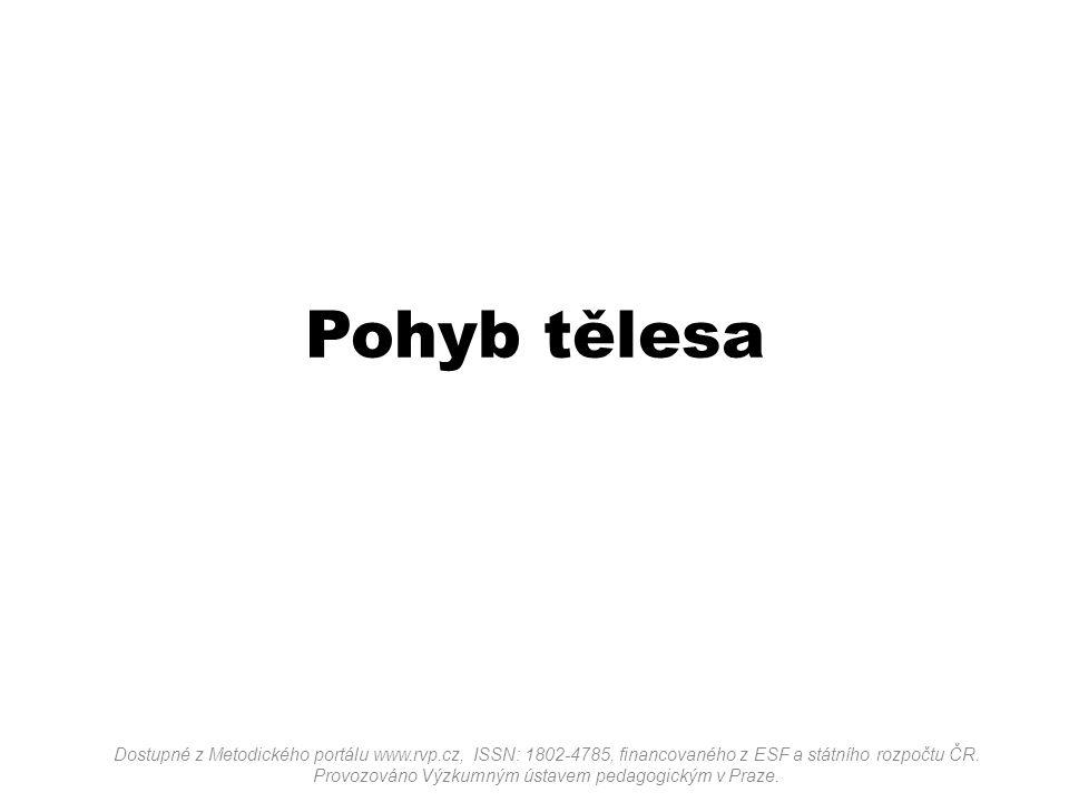 Pohyb tělesa Dostupné z Metodického portálu www.rvp.cz, ISSN: 1802-4785, financovaného z ESF a státního rozpočtu ČR. Provozováno Výzkumným ústavem ped