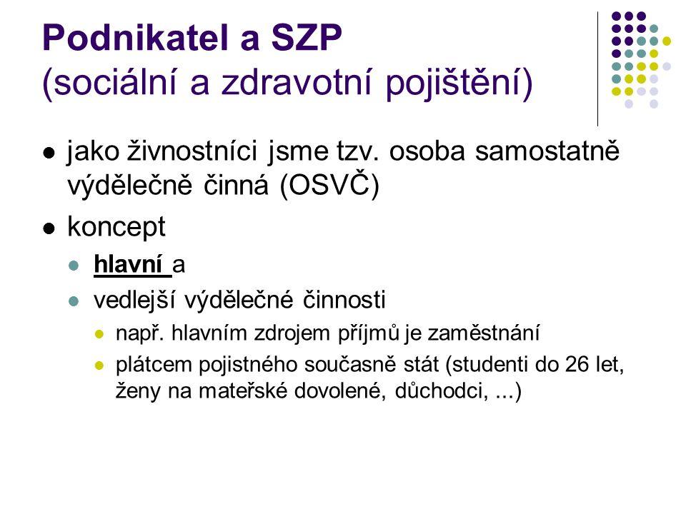 Podnikatel a pojistné na sociální zabezpečení zdroje: z.č.