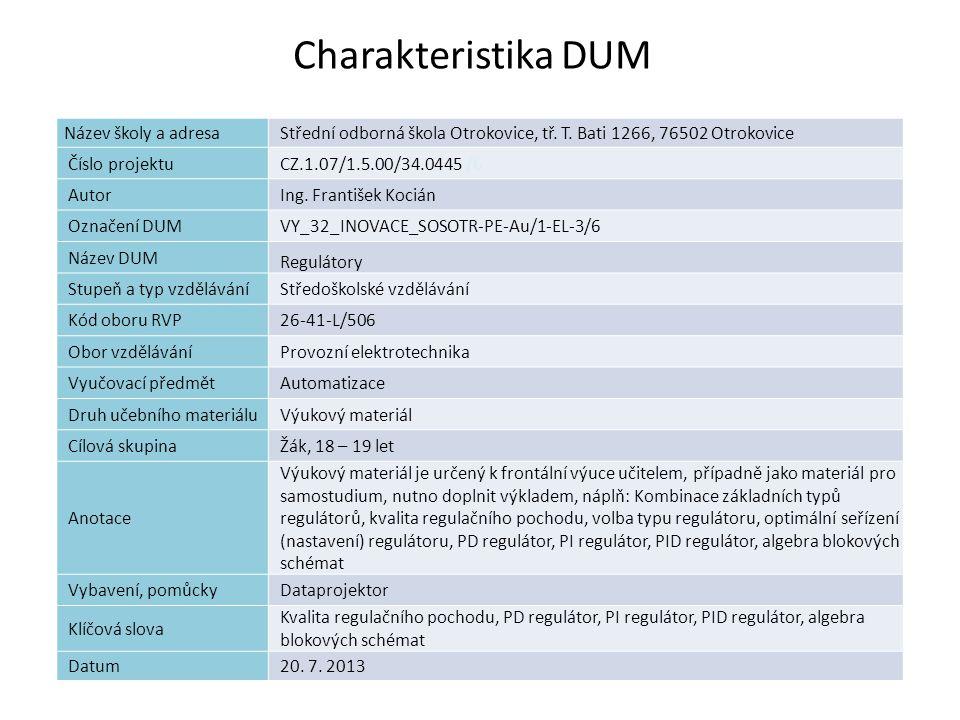 Seznam obrázků: Obr.8 : SVARC. Základy automatizace [online].