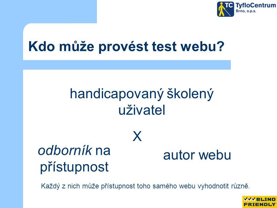 Kdo může provést test webu.
