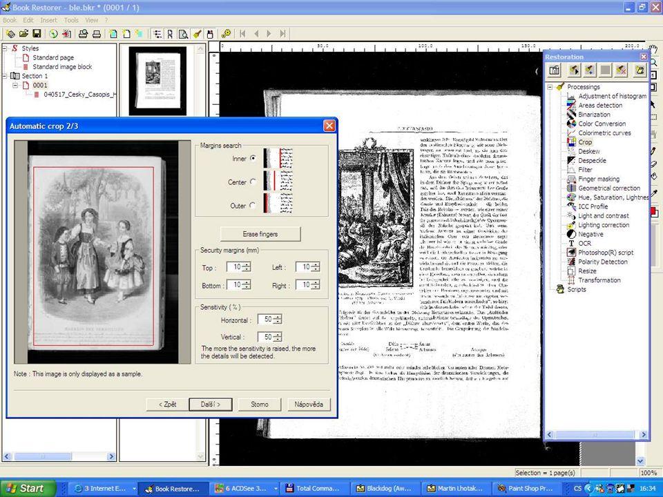 Možnosti spolupráce při vytváření digitálních sbírek - Digitalizační centrum, Knihovna AV ČR 13