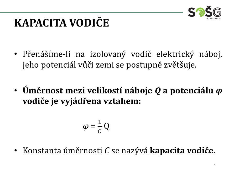 KONDENZÁTOR V homogenním elektrickém poli je intenzita pole všude konstantní, siločáry jsou rovnoběžné a stejně vzdálené.