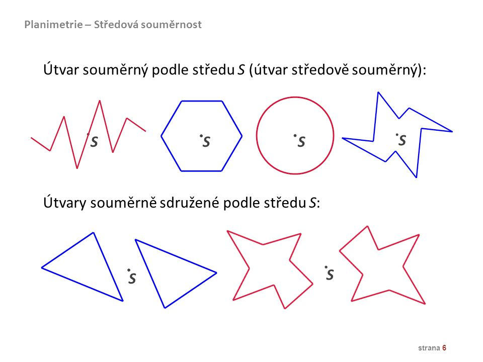 strana 7 přímá shodnost Posunutí (translace) určené orientovanou úsečkou (U ≠ V) … T( ) U V C B A C´ B´ A´ p p´ Planimetrie – Posunutí = = ==