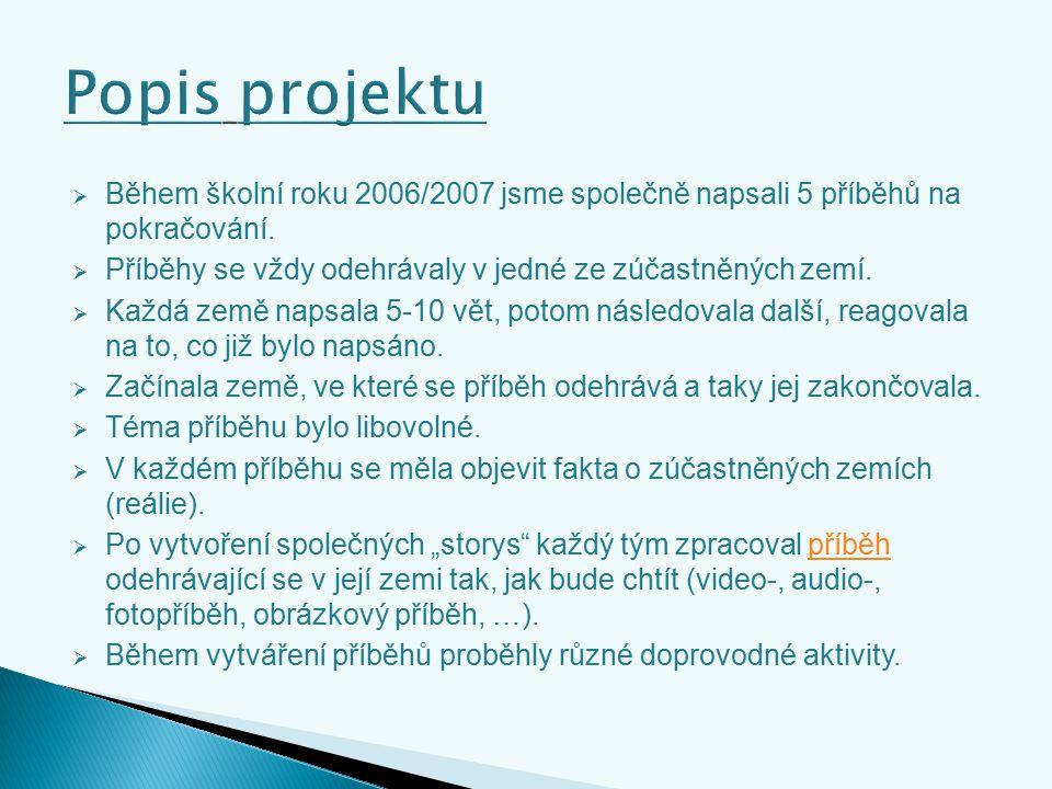  Během školní roku 2006/2007 jsme společně napsali 5 příběhů na pokračování.