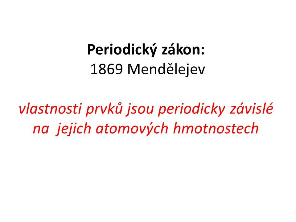 Současná periodická soustava prvků Začátkem 20.stol.