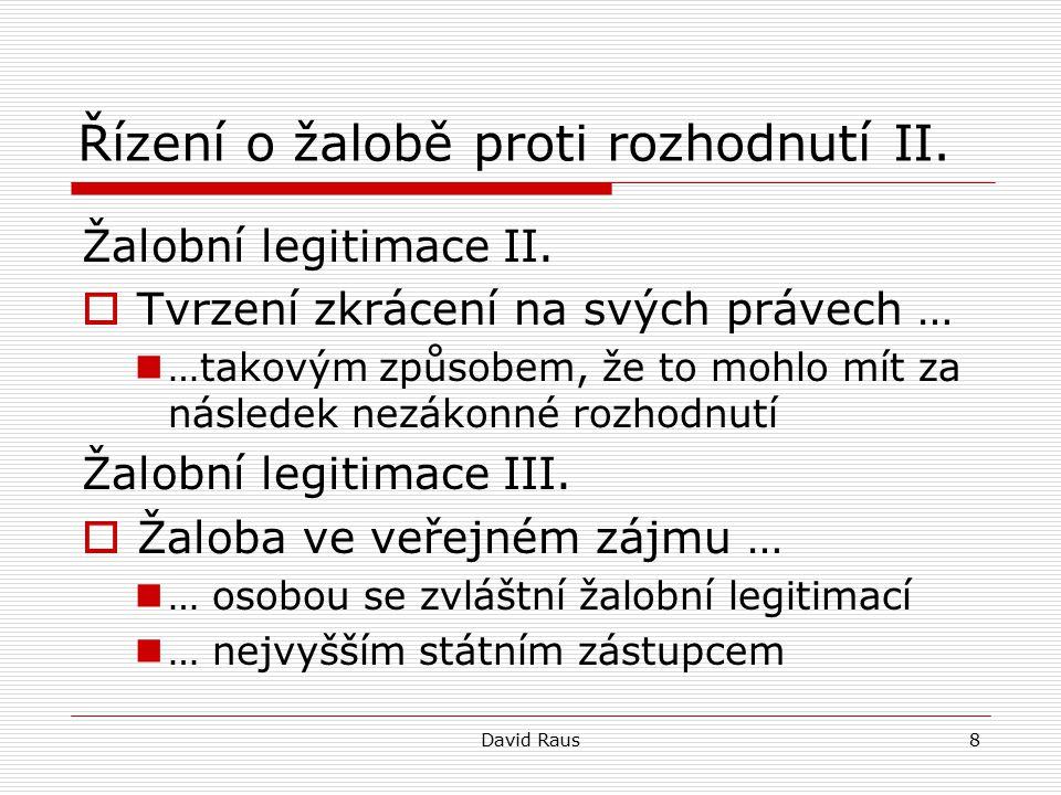 David Raus19 Věci volební I.