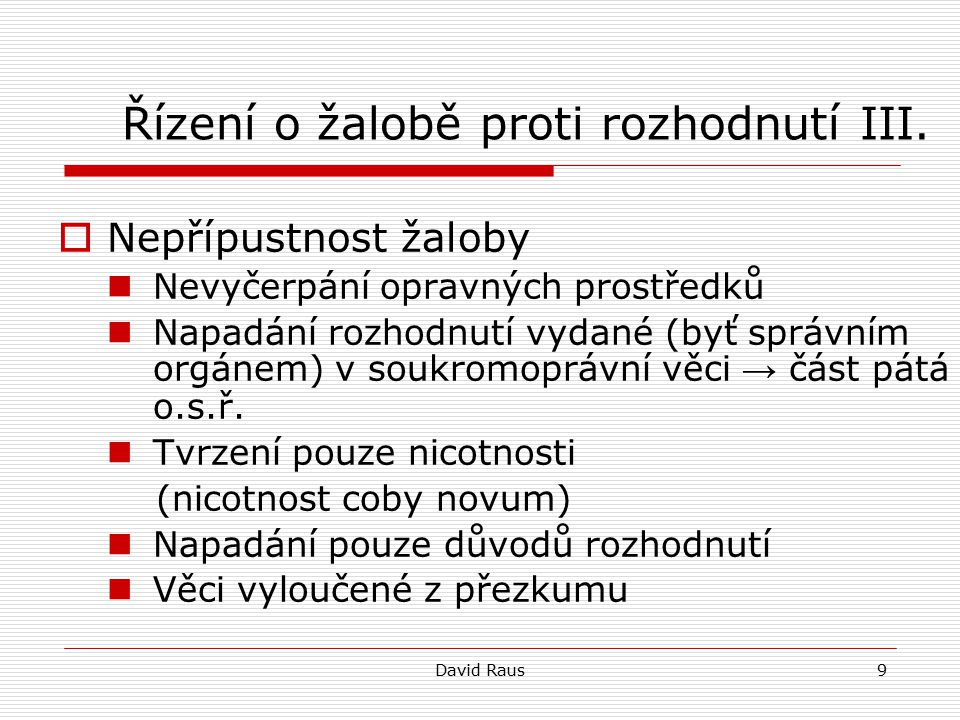 David Raus20 Věci volební II.