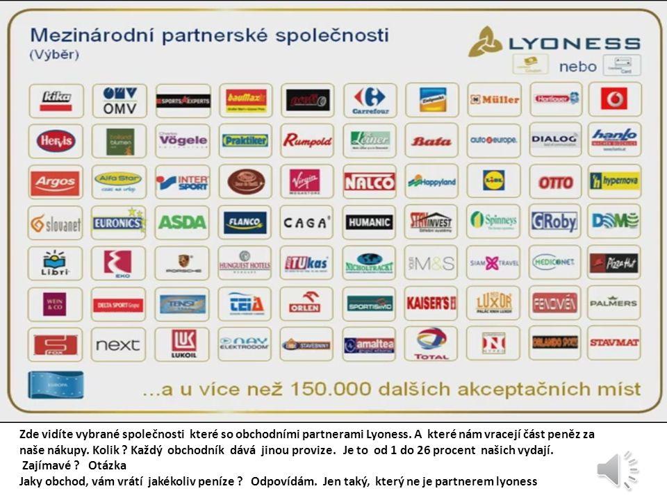 V každé s této zemi má lyoness svou cezenou společnost. U nás je to Čech Prag s.r.o. ze sídlem v Praze na evropské ulici.
