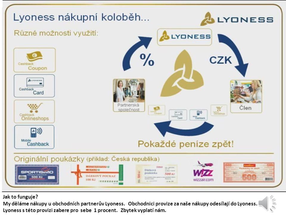 Vše obchody a služby můžete najíst na webu Lyoness www.lyoness.cz Tam taky najdete informace o provizi jakou poskytuje obchodník a další zvědavé informace.