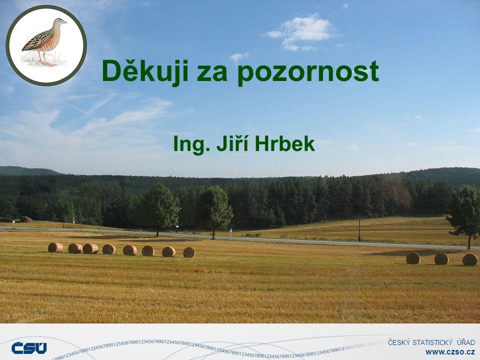 ČESKÝ STATISTICKÝ ÚŘAD www.czso.cz Děkuji za pozornost Ing. Jiří Hrbek
