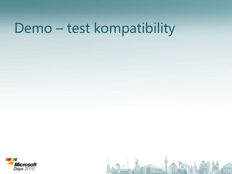 Demo – test kompatibility