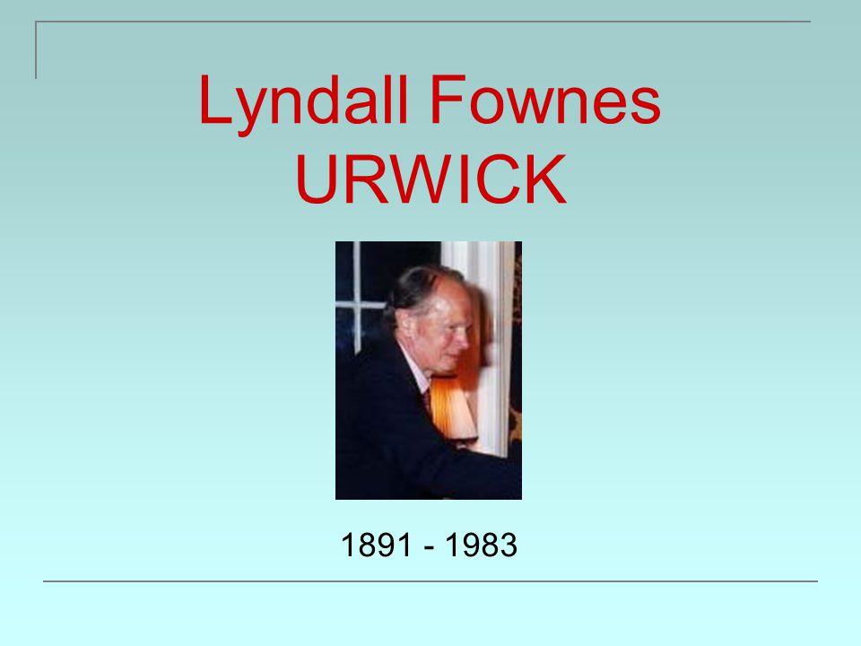 Lyndall Fownes URWICK Narozen 3.