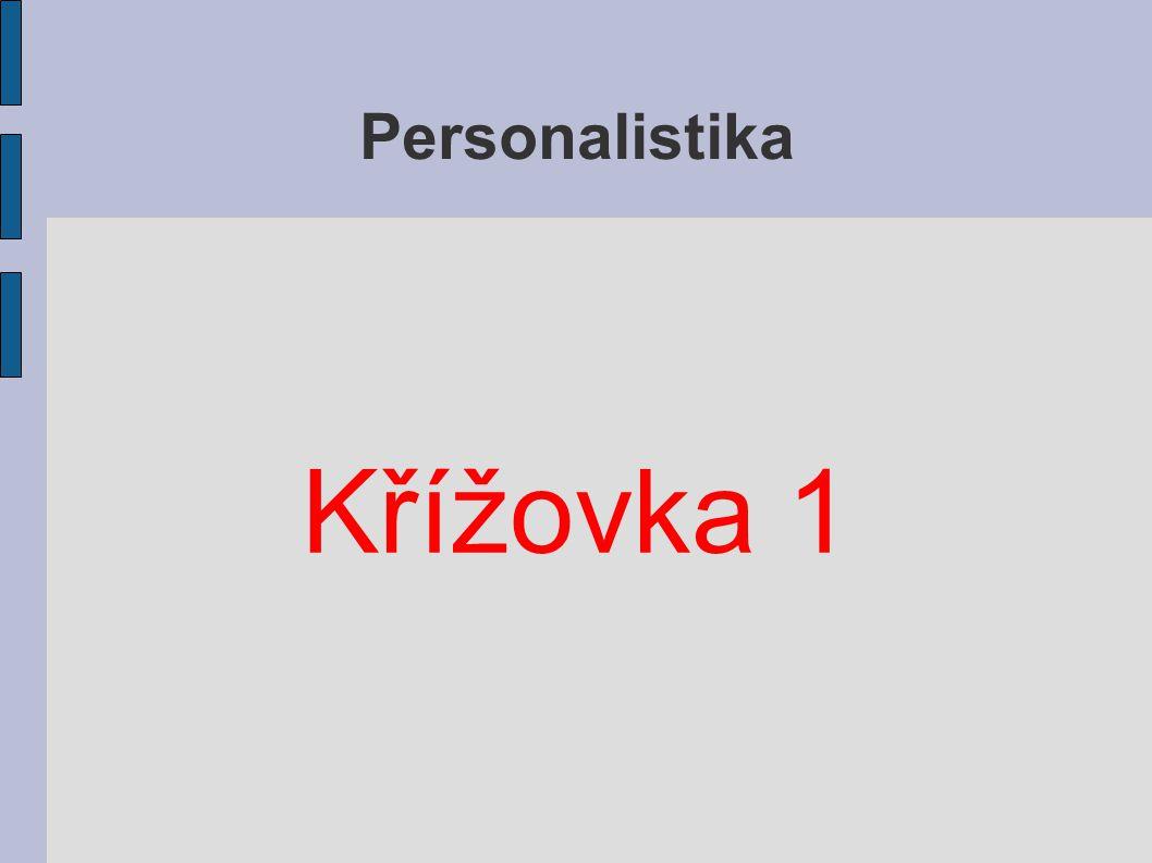 Personalistika Křížovka 1
