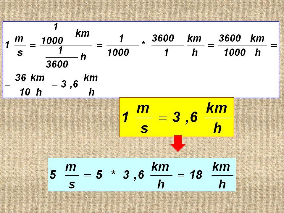 m km s h 1 = 3,6 1 = =.