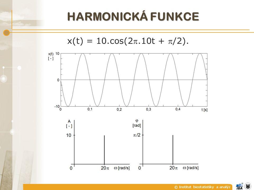 © Institut biostatistiky a analýz x(t) = 10.cos(2.10t + /2). HARMONICKÁ FUNKCE