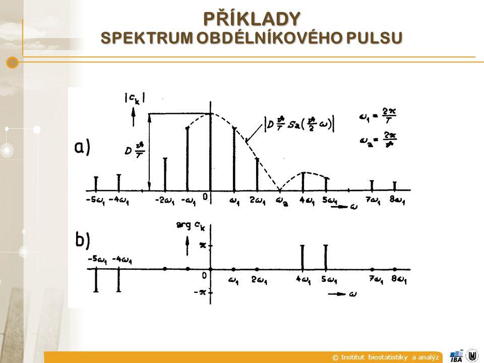 © Institut biostatistiky a analýz P Ř ÍKLADY SPEKTRUM OBDÉLNÍKOVÉHO PULSU