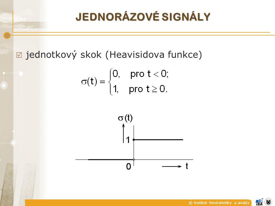 © Institut biostatistiky a analýz  jednotkový skok (Heavisidova funkce) JEDNORÁZOVÉ SIGNÁLY
