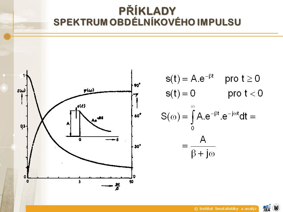 © Institut biostatistiky a analýz P Ř ÍKLADY SPEKTRUM OBDÉLNÍKOVÉHO IMPULSU