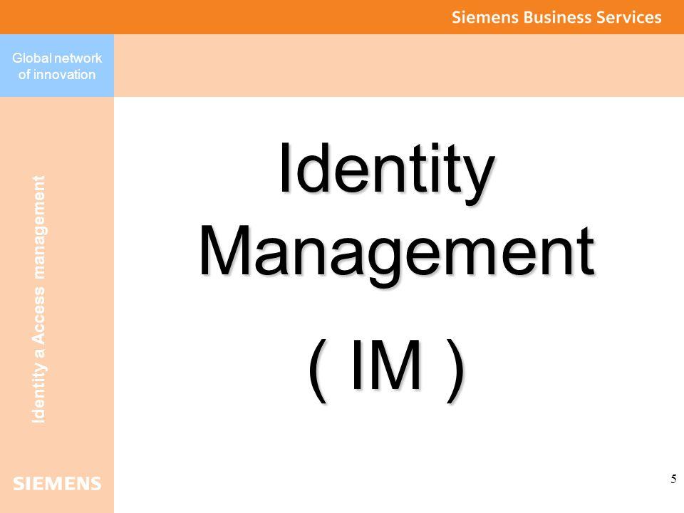 Global network of innovation Identity a Access management 6 Před nasazením IM